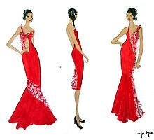 red dresses by K. Kedra