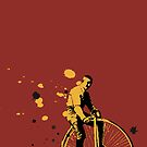 old cyclist by Я M