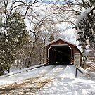 Pinetown Covered Bridge in Snow by Mark Van Scyoc