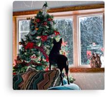 Waiting for Santa! Canvas Print