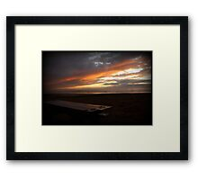 Holiday Sunset - Grover Beach, California Framed Print