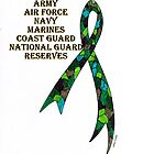 Green Camoflauge Ribbon of Support by James Peele