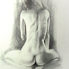 Nude kneeling by Glen Viljoen