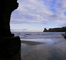 Cornwall: Elephant Rock at Bossiney Haven In Silhouete by Rob Parsons