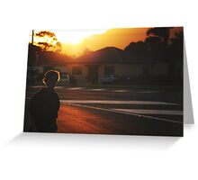 summer in suburbia Greeting Card