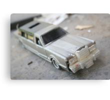 Abandoned Car in my Backyard Metal Print