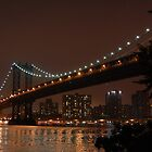 Manhattan Bridge, New York -- Night by CG1977