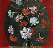 Birthday Wishes - Carnations In A Glass Vase by taiche