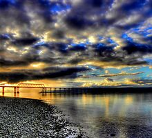 Hood Canal Bridge ~ Port Townsend, WA ~ HDR Series  by lanebrain photography