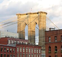 Brooklyn Bridge from South Street Seaport by Michael Berns