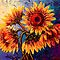 The Five Sunflowers by Abstract D'Oyley