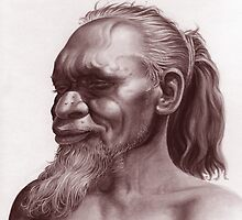 Aboriginal Portrait by Lyell Dolan