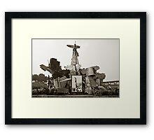 Vietnam War Scraps Framed Print