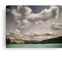 Fairmont chateau hotel in lake louise, Banff Canvas Print