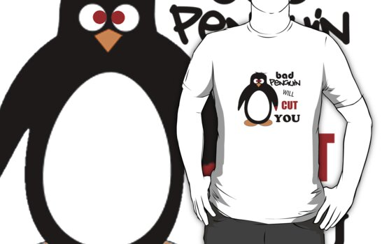 Bad Penguin will cut you. by angelicbiscuit