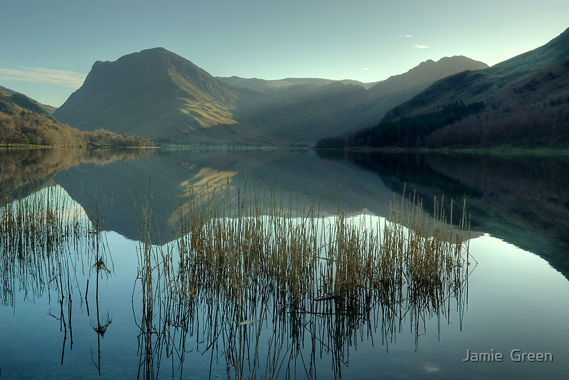 Buttermere...Winter Sunshine by Jamie  Green