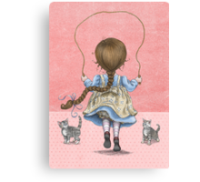 skipping girl Canvas Print