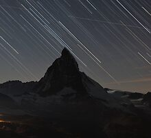 Matterhorn - Zermatt, Switzerland and startrails by Tom Grieve