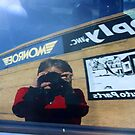 Self-Portait in Car Window by Susan Russell