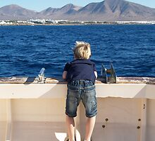 Boy on a boat by Alan Gandy