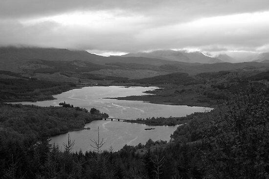 Loch Garry - a map of Scotland by Bob Leckridge