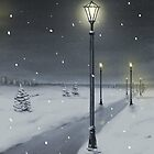 Winter alley by Victoria  _Ts