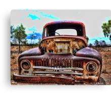 Old Rusty Car Canvas Print