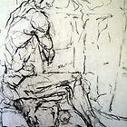 male figure study by karolina