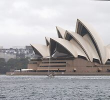 Opera House on a rainy day by Debbie Thatcher