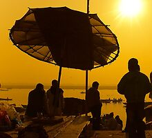 The Sacred Light at River Ganga by Mukesh Srivastava