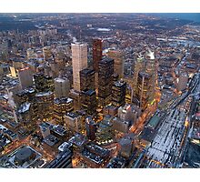 Toronto downtown view from the CN tower , Canada Photographic Print