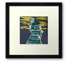 woman in the storm Framed Print