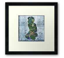 woman in the storm 2 Framed Print