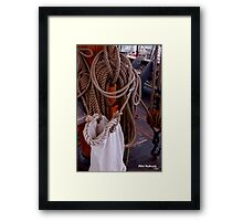 On Board the Dove Framed Print