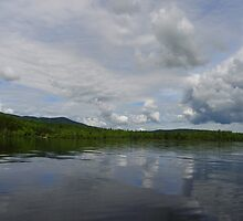 Clouds over  Moxie Lake - The Forks, Maine by MaryinMaine