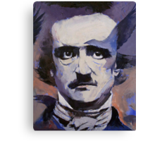 Portrait of Edgar Allan Poe Canvas Print
