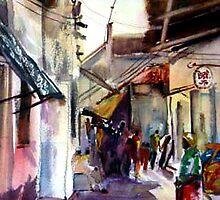 Lamu Street on Lamu Island by Shirlroma