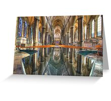 Salisbury Cathedral Interior Reflections Greeting Card