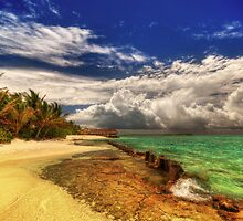 Maldivian Beachside by Marco Heisler