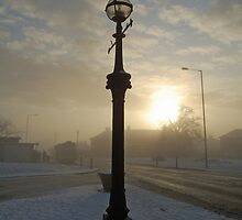 Winter streetlight by funkybunch