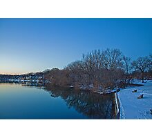 Boathouse Row in the Winter Photographic Print