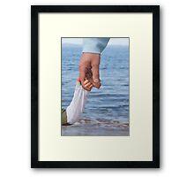 A Trusty Hand Framed Print