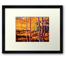 View in the Aspens Framed Print