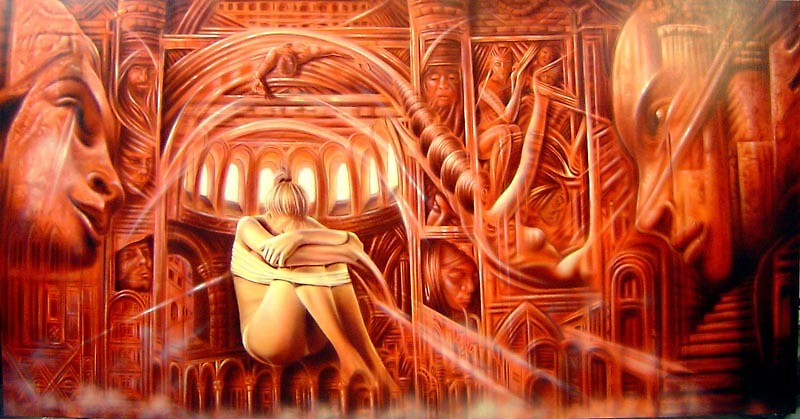 warren haney, 'Leaving Home' 130cm x 250cm    Acrylic on Stretched Canvas by Warren Haney