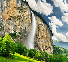 Swiss Waterfall by Mario Curcio