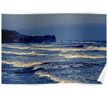 Waves - Sandsend  (Split Toned) Poster