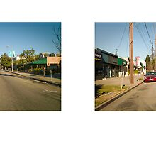 Sawtelle Boulevard, West Los Angeles, California, USA...narrowed. by David Yoon