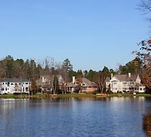 Homes On The Lake North Carolina by Jonathan  Green
