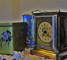 161 Year Old Carriage Clock with Tins by trueblvr