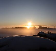 Misty Sunrise over Aberdeenshire by arekkusu